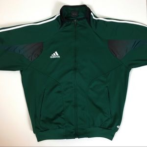 Adidas green athletic jacket size L
